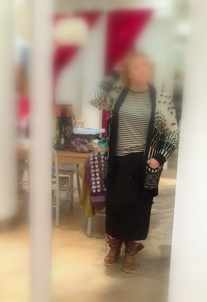 Didi Maxi Skirt Zwart Wit Streepje Vest Rok