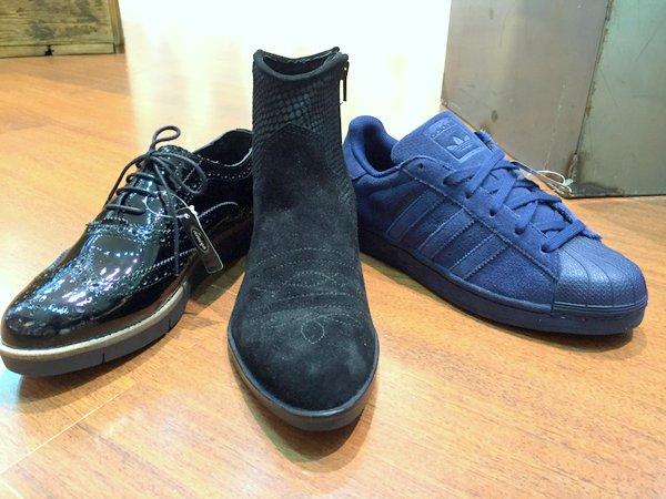 Nieuwe schoenen! Veterschoen enkellaars adidas blauw zwart combineren