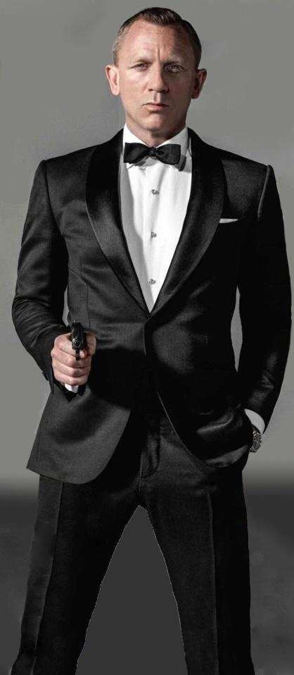 James Bond in smoking met pistool