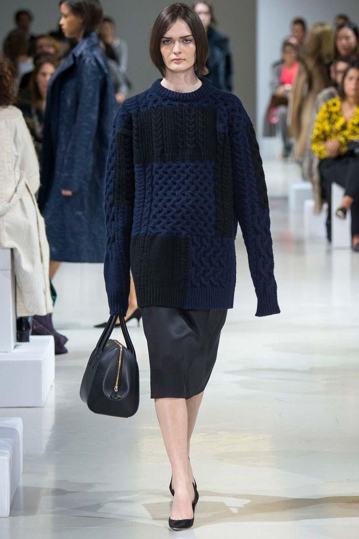heavy knit leather skirt herfst winter 2015