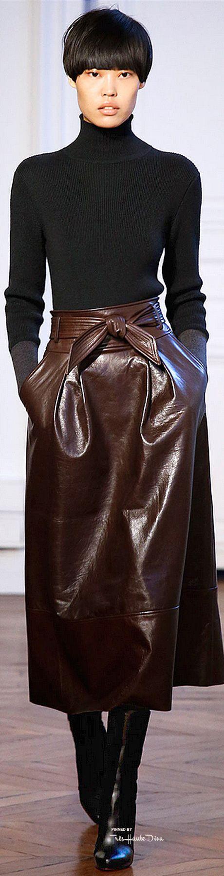 leather knitwear herfst winter 2015