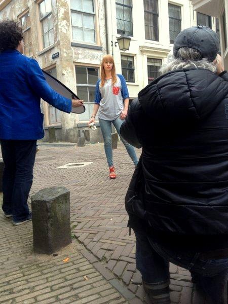 Behind the Scenes Fotoshoot boyfriend T-shirt SS14