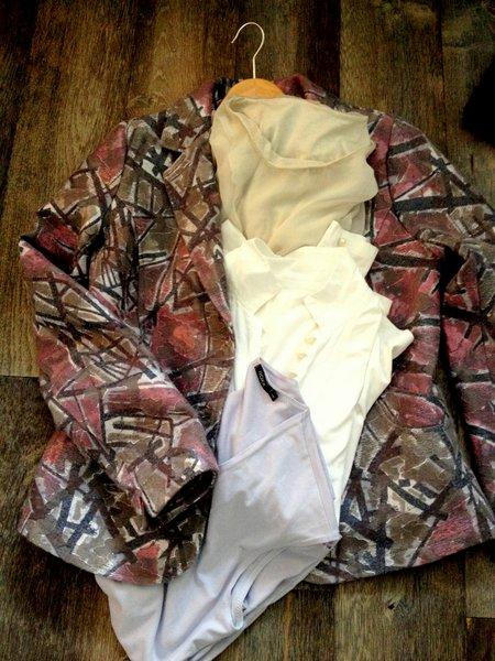 print blazer tops combinatie
