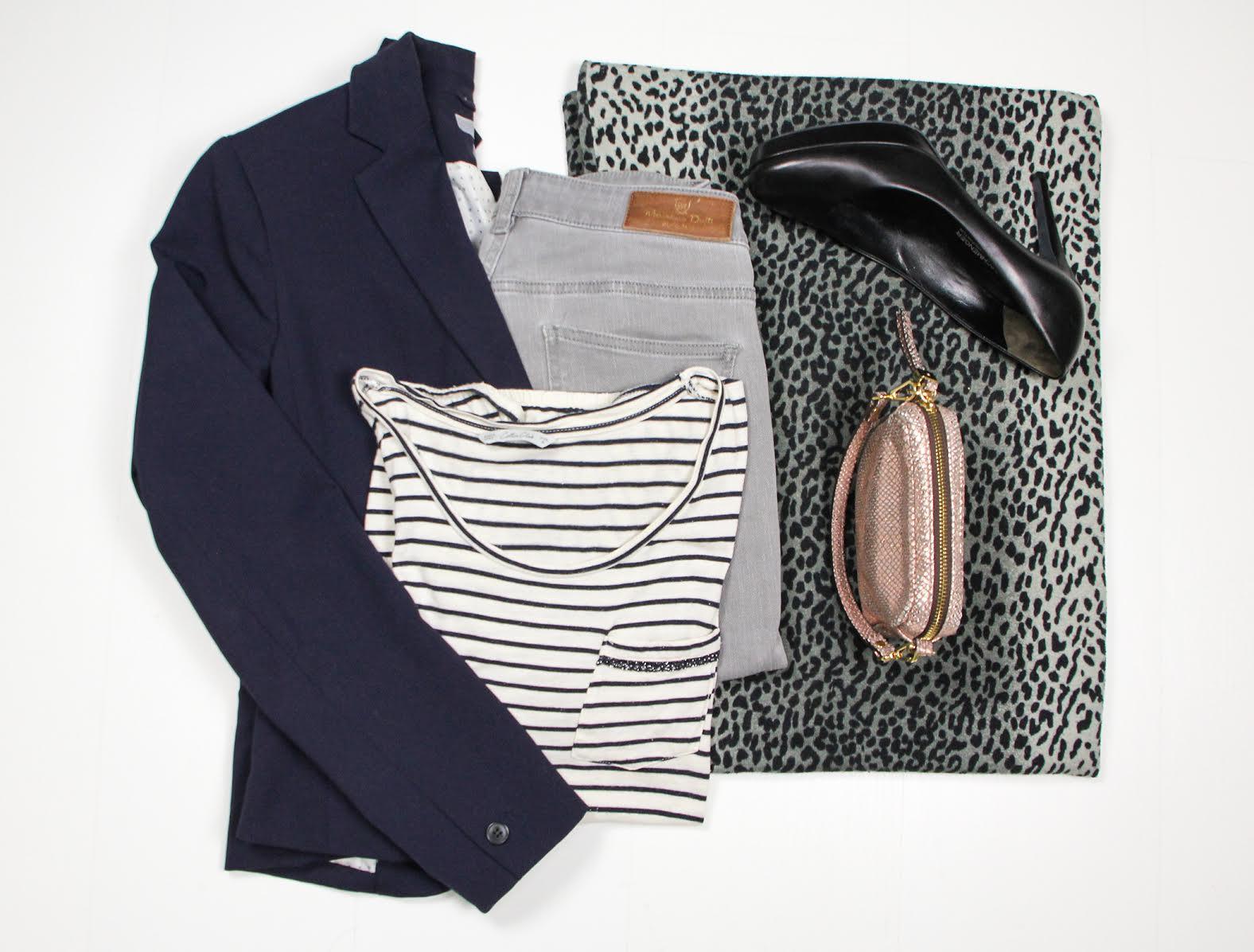 parisienne sparkle outfit stijladvies kledingadvies utrecht blauwe blazer skinny streepjes