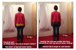 Shirtje over Heupen trekken - stijladvies - hoe lijk je slanker