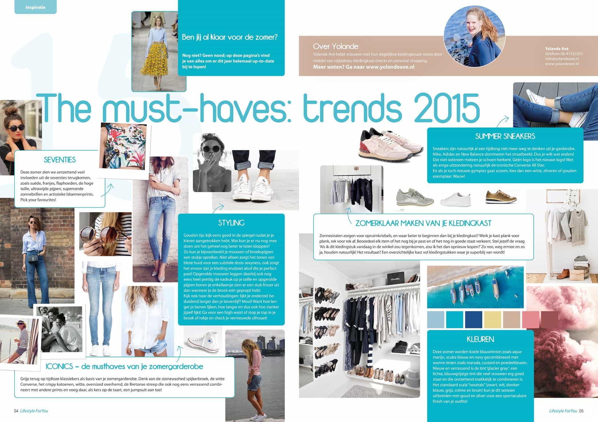 Trends Zomer 2015 Stijladvies Kledingadvies Utrecht Styling Advies Kleding Personal Shopper ForYou Magazine Tijdschrift