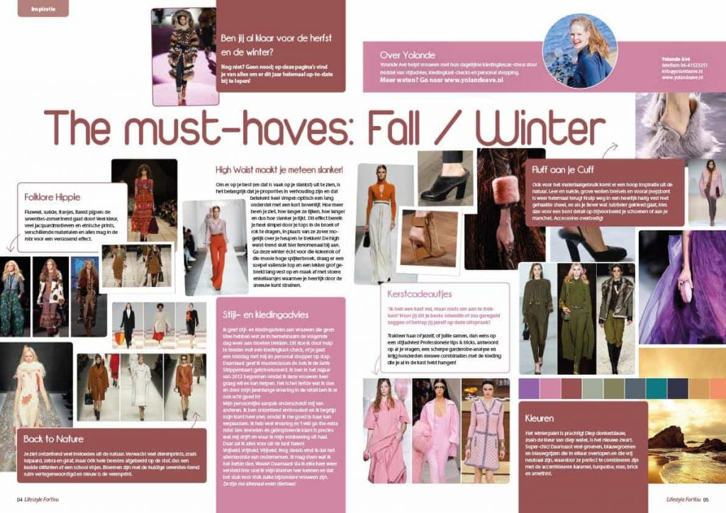 trends kledingtips mode herfst winter 2015 FW15 Utrecht Magazine seventies stijladvies kledingadvies kleuren